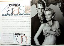 Mag 2001:PATRICIA KAAS_JEREMY IRONS_JEAN RENO_CONCORDE_NICOLE GARCIA_HEMINGWAY