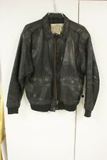 Banana Republic travel safari black leather jacket 42
