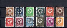 Deutsches Reich Dienstmarken Nr. 132-43 gest.echter Bedarf auber gez. (A-111)