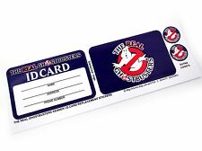 THE REAL GHOSTBUSTERS REPRODUCED STICKERS for 1ST RELEASED I.D. CARD 'DIE CUT' +