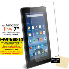 """1x CLEAR Screen Protector Cover for Amazon Fire 7"""" Tablet 2015 / 5th Generation"""