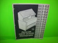 Rock Ola 450 451 Jukebox Phonograph Music Parts List Manual Original 1970