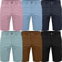 Mens Slim Fit Stretch Cotton Chino Shorts Summer Casual Spandex Half Pants 30-42
