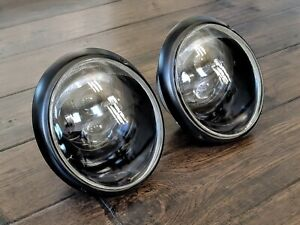 Porsche 911 930 European LED Headlight Assembly - ALL BLACK - PAIR
