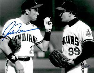 Corbin Bernsen Signed Major League 8x10 Black & White Movie Photo Steiner