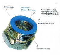 """Schwerkraftbremse (SBM) DN 1"""" mit automatischem Luftdurchlaß aufstellbar"""