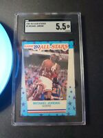 Michael Jordan 1989 90 Fleer basketball all-stars sticker #3 Bulls SGC 5.5