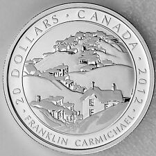 2012 $20 Houses: Cobalt, Franklin Carmichael Group of Seven Pure Silver Proof