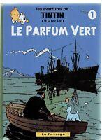 Pastiche Tintin. LE PARFUM VERT. Tome 1. Cartonné 54 pages en n/blanc. HC