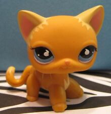 Littlest Pet Shop No # Orange Striped Short Hair Kitty Cat w/ Blue Eyes