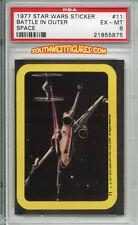 STAR WARS 1st Series Trading Card STICKER #11 'Battle' PSA (Topps 1977)