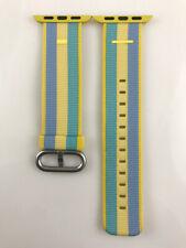 Original Apple Watch Series 5 4 3 2 1 Woven NYLON Band 38MM 40MM Pollen stripe
