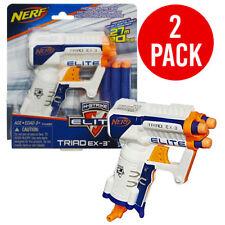 New Nerf N-Strike Elite Triad EX-3 Soft Dart Gun Blaster Dual Pack 2 Guns Incld