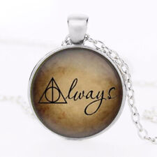 New Harry Potter Always Deathly Hallows Cabochon Necklace Pendent Gift Bag