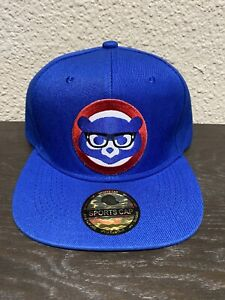 ⚾️CHICAGO CUBS 🐻 HARRY CAREY 🤓GLASSES EMBROIDERED LOGO CAP SNAPBACK NEW 👓