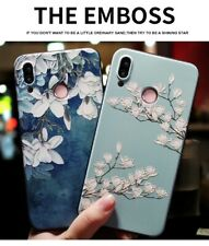 For Huawei P40 P30 P20 Honor 20 10 9 Mate Nova Embossed Flowers Phone Case Cover