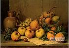 Still Life of Fruit by Giuseppe Falchetti (Art Print of Vintage Art)