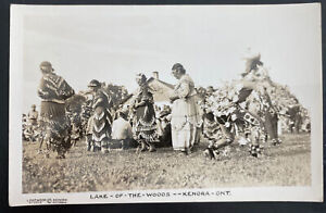 Mint real Picture Postcard Native Americana Indian Lake Of the Woods Kenora