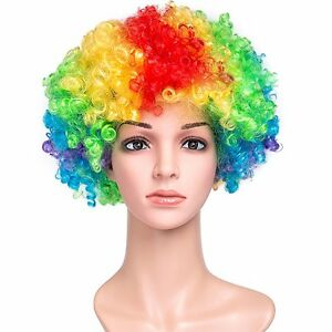 Afro Wig Rainbow, Fancy Dress Party, Photo Booth Props