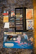 Nintendo Powerpad with BOX + Zapper + 26 NES game Lot with Case + Manuals