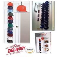 Cap Rack Closet Hanger System Storage 36 Caps Organizer Door Baseball Hat Holder