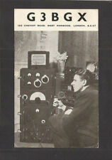 QSL-Type POSTCARD:  HAM RADIO OPERATOR G3BGX & EQUIPMENT, LONDON, ENGLAND, 1949