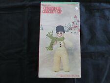 New listing Vintage Vogart Christmas Crochet Sealed Kit - Snow Man #3203