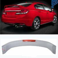 For 2012 2013 2014 2015 Honda Civic 4DR Primer Rear Deck Trunk Lid Spoiler Wing