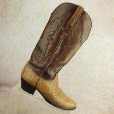 Lucchese Brown Smooth Ostrich Casual Mid Calf Western Cowboy Boots Women's 5 C