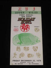 HOLIDAY BOWL TICKET - BYU vs NAVY - 1978 - FIRST YEAR