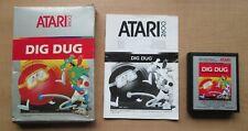ATARI 2600 - Dig Dug - BOXED + Manual INCLUDED