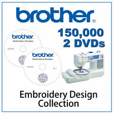 150,000 EMBROIDERY DESIGNS DVD PES FORMAT BROTHER BABYLOCK BERNINA MACHINE CARDS