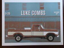 Luke Combs Poster 2019 Tour At Walmart AMP Rogers, Arkansas