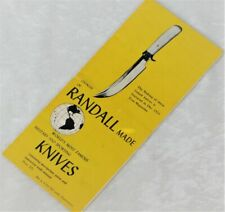 VTG RARE 1953 KOREAN WAR ERA RANDALL KNIFE BROCHURE CATALOG