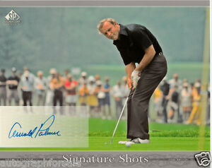 Arnold Palmer certified autographed signed 2005 UD SP Signature 8x10 photo card