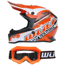 Kinder Cross Brille + Helm Off Road XL 53-54 orange Motorrad Quad Bike MX BMX