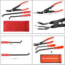 3 Pcs Professional Car Door Panel Clip Plier Set & Fastener Remover Combo Tools