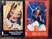 Darkman Comic Set No. 1 & 2 (Vol. 2, 1993) Marvel Comics VF C2