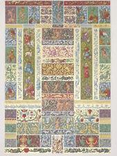 RENAISSANCE Frises Bordures RACINET LITHOGRAPHIE Art Decoratif Art Deco 1870