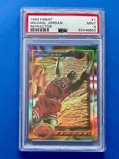 1993-94 Topps Finest Refractor Michael Jordan card #1 PSA 9 CHICAGO BULLS GOAT