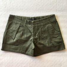 Mossimo Women's Green Khaki Dress Shorts - Pleated, cuffed, stretch - Size 4