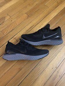 Nike Epic React Flyknit 2 Running Shoes BQ8927-001 Black / Blck Women's Size 11