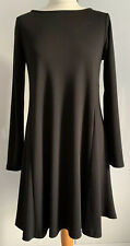 Phase Eight Short Swing Dress /Tunic Black Jersey Long Sleeves Size 10 Small S