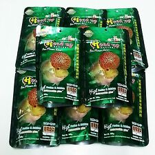 12 Okiko 100 g Floating Pellet Calcium Head Faster Cichlid Flowerhorn Fish Food