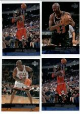 LOT OF 9 MICHAEL JORDAN BASE + INSERTS NBA LEGENGS BULLS