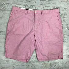 Polo Ralph Lauren Short Size 40 Pink Cotton Flat Front Pockets Mens