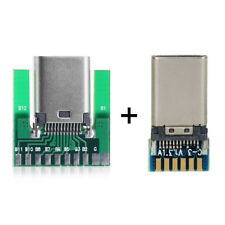 1 Set DIY 24pin USB 3.1 Type C Male & Female Plug & Socket Connector SMT with PC