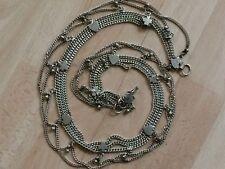 Cinturón De Cadena De Metal Plata, Vintage/danza oriental/Tribal/Boho