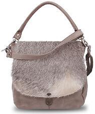 """BULL&HUNT® """"Karla"""" grau Naturleder+Fell Tasche Handtasche Messenger Bag UVP 239€"""