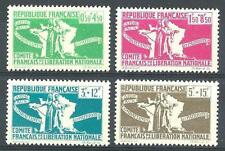 French Colonies 1943 Sc# B3-6 set Patriots & map of France MNH